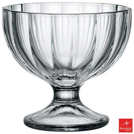Conjunto de Taças para Sorvete Bormioli Alaska em Vidro com 260 ml de Capacidade, Não se aplica, Liso, 06 Peças
