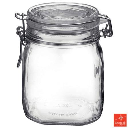 Pote de Vidro com 750 ml e Fechamento Hermético Fido - Bormioli Rocco, Não se aplica, Vidro, 03 meses