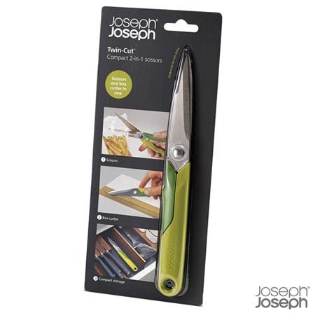 Tesoura de Cozinha em ABS, TRP, Aço Inoxidável - Joseph Joseph, Verde, Aço Inoxidável, ABS e TPR, 01 Peça, 03 meses