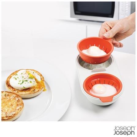 Forma para Preparo de Ovos Poche em Micro-ondas Laranja M-Cusine - Joseph Joseph, Laranja, Polipropileno, 1, 03 meses