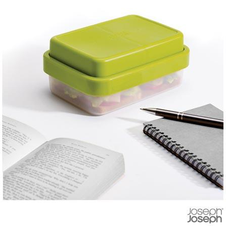 Jogo de Potes para Lanches com 02 Peças Verde Go Eat - Joseph Joseph, Verde, ABS, Polipropileno e Silicone, 2, 03 meses