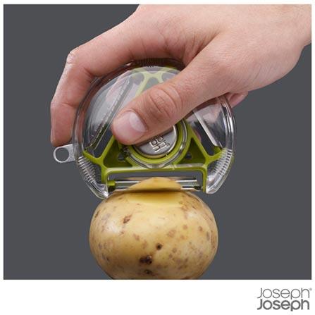 Descascador Rotary em Policarbonato, ABS e Aço Inoxidável Verde - Joseph Joseph, Verde, Policarbonato, ABS e Aço Inoxidável, 01 Peça, 03 meses