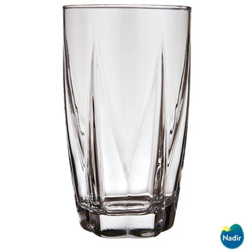 Conjunto de Copos em Vidro para Agua de  460 + 340 ml com 12 Pecas - Nadir Figueiredo, Não se aplica, Vidro, 12 Peças, 460 ml - Long Drink e 340 ml - Rocks, 03 meses