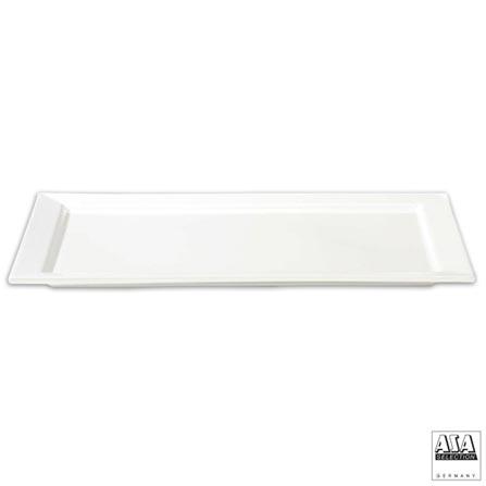Travessa Retangular em Cerâmica 32 cm Branca - ASA, Branco, Cerâmica, 1, 03 meses