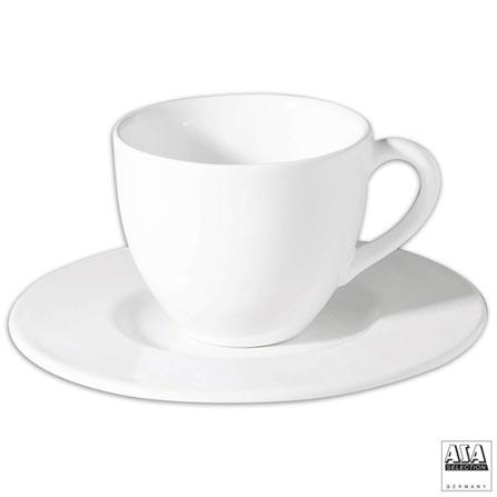 Jogo de Xícaras para Chá com 06 Peças - ASA, Branco, Chá, Liso, Cerâmica, 6, 03 meses