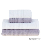 Conjunto de Toalhas de Banho com 04 Peças Elegant Branco e Lilás - Buddemeyer