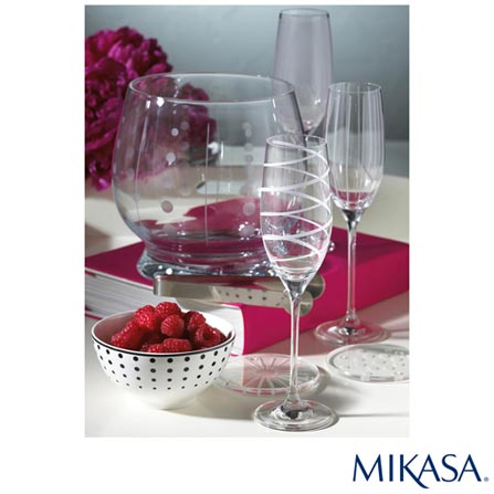 Conjuntos de Tacas para Champanhe em Cristalin de 236 ml - Mikasa, Não se aplica, Cristalin, 04 Peças, 236 ml, 03 meses