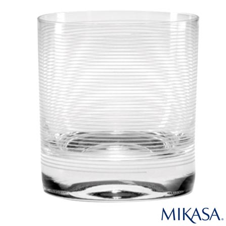 Copo para Whisky Cheers Mikasa em Cristalin com 377 ml de Capacidade, Não se aplica, Cristalin, 04 Peças, 377 ml, 03 meses
