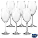 Conjunto de Taças Lara para Vinho Branco em Cristal Ecológico 250 ml - Bohemia