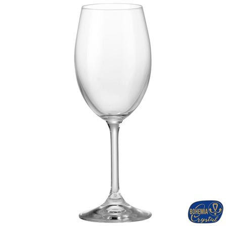 Conjunto de Taças Lara para Vinho Branco em Cristal Ecológico 250 ml - Bohemia, Não se aplica, Cristal, 06 Peças, 250 ml, 03 meses