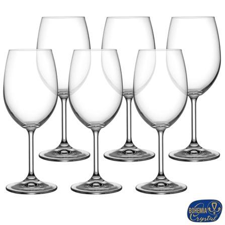 Conjunto de Tacas Lara para Agua em Cristal Ecologico de 450 ml - Bohemia, Não se aplica, Cristal, 06 Peças, 450 ml, 03 meses