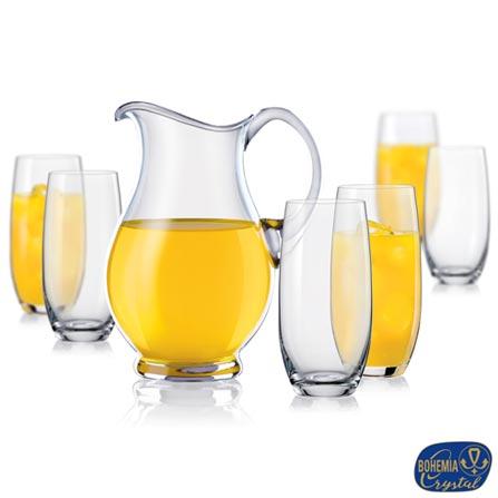 Conjunto de Copos Lemonade em Vidro 350 ml com 06 Peças e Jarra 1,5 Litros - Bohemia, Não se aplica, 03 meses