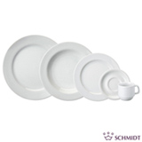 Aparelho de Jantar e Chá 20 Peças Branco - Schmidt