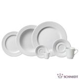 Aparelho de Jantar 20 Peças em Porcelana Saturno Branco - Schmidt