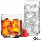 Conjunto de Copos Koba em Vidro 380 ml e 470 ml com 08 Peças - Crisa