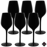Conjunto de Taças Noir para Vinho de Vidro 470 ml com 06 Peças - Enjoy