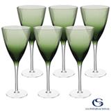 Conjunto de Taças de Água Oliver em Vidro 330 ml com 06 Peças Verde - GS