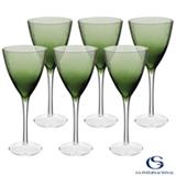 Conjunto de Taças de Vinho Oliver de Vidro 250 ml com 06 Peças Verde - GS