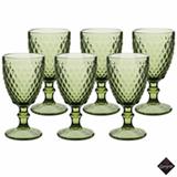 Conjunto de Taças Albany para Água em Vidro 320 ml com 06 Peças Verde - Enjoy