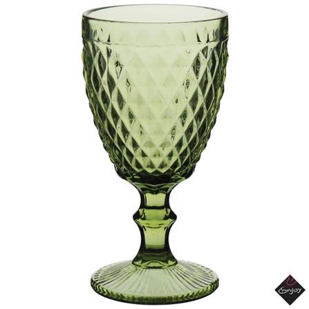 Conjunto de Taças Albany para Água em Vidro 320 ml com 06 Peças Verde - Enjoy, Verde, Vidro, 06 Peças, 03 meses