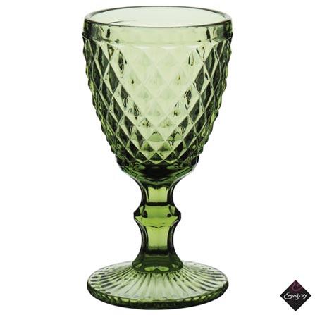 Conjunto de Taças Albany para Vinho de Vidro 240 ml com 06 Peças Verde - Enjoy, Verde, Vidro, 06 Peças, 03 meses