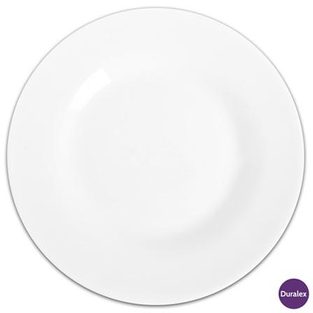 Jogo de Pratos para Sobremesa 06 Peças Menu Opaline - Duralex, Branco, Liso, Redondo, 06 Peças, 03 meses