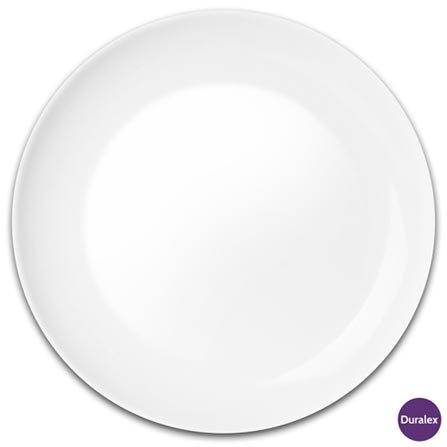Jogo de Pratos para Sobremesa 06 Peças Blanc Opaline - Duralex, Branco, Liso, Redondo, 06 Peças, 03 meses
