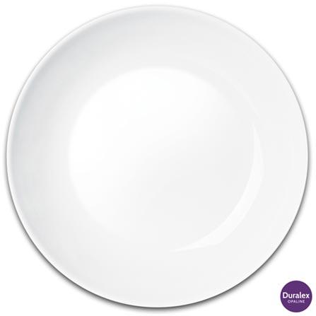 Jogo de Pratos Fundos 06 Peças Blanc Opaline- Duralex, Branco, Liso, Vidro, Redondo, 03 meses