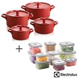 Conj. de Panelas Electrolux Infinite Amplicook em Ceramica com 04 Pecas+Jogo de Potes com 10 Pecas com Tampa Electrolux