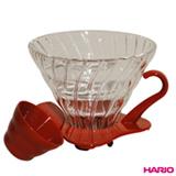 Suporte para Filtro de Café para até 04 xícaras em Vidro Vermelho - Hario