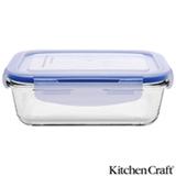 Pote de Vidro Borosilicato com 550 ml, Retangular e Fechamento Hermético Pure Seal - Kitchen Craft