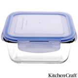 Pote em Vidro Borosilicato com 550 ml, Quadrado e Fechamento Hermético Pure Seal - Kitchen Craft