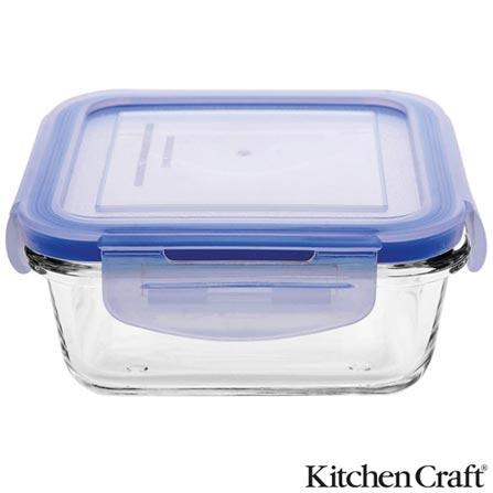 Pote em Vidro Borosilicato com 330 ml e Fechamento Hermético Pure Seal - Kitchen Craft, Não se aplica, Vidro e plástico, 03 meses