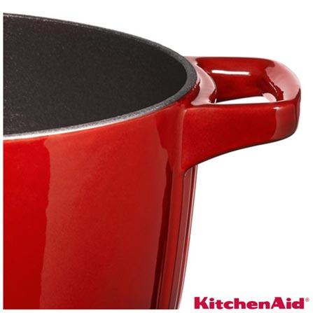 , Vermelho, Caçarola, 01 Peça, 5,7 Litros, Ferro, 27 cm, 03 meses