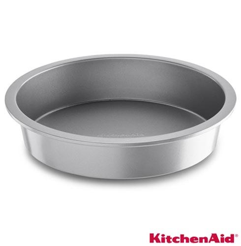 Forma Redonda KitchenAid Classic em Aço Carbono Antiaderente, Chumbo, Formas, 01 Peça, Aço carbono, Redondo, 03 meses
