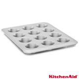 Forma para 12 Bolinhos KitchenAid Classic em Aço Carbono Antiaderente