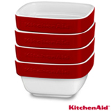 Conjunto de Tigelas kitchenaid Ramekin em Cerâmica com Capacidade de 236 ml