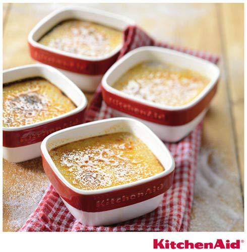 Conjunto de Tigelas kitchenaid Ramekin em Cerâmica com Capacidade de 236 ml, Vermelho, Cerâmica, 4, 03 meses