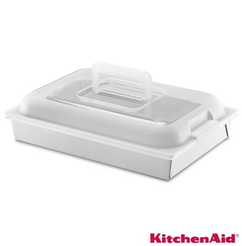 Forma para Bolo KitchenAid Classic Antiaderente com Tampa Retangular, Chumbo, Formas, 01 Peça, Aço carbono, Retangular, 03 meses