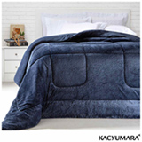 Cobertor Queen em Poliéster Duoblanket Azul - Kacyumara