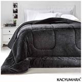 Cobertor Queen em Poliéster Duoblanket Preto - Kacyumara