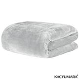 Cobertor Solteiro em Poliéster Blanket Branco - Kacyumara