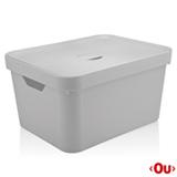 Caixa Organizadora com Tampa Cube G Branca - Ou