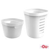 Conjunto Cesto para Roupas Cube Flex com 02 Peças Branco - OU
