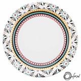 Conjunto de Pratos Rasos 06 Peças em Cerâmica Floreal Luiza - Oxford Daily