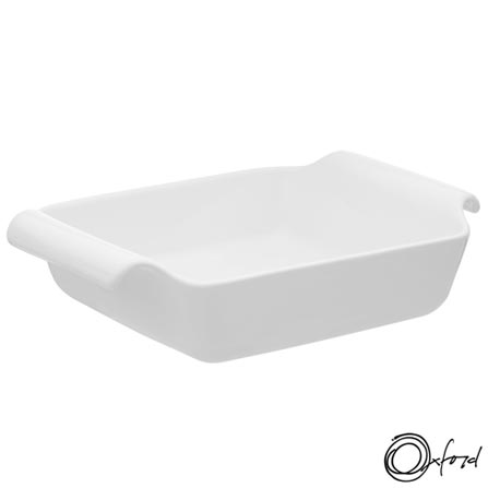 Travessa Oxford Porcelanas Gourmet ao Forno em Porcelana Capacidade de 1,1 Litros - CM14-8001, Branco, Porcelana, 1, 12 meses