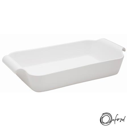 Travessa Oxford Porcelanas Gourmet ao Forno com Capacidade de 2,6 Litros - CM16-8001, Branco, Porcelana, 1, 12 meses