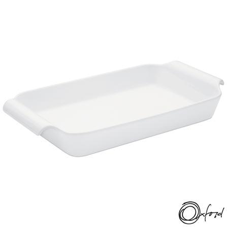Travessa Oxford Porcelanas Gourmet ao Forno em Porcelana com Capacidade de 3,9 Litros - CM17-8001, Branco, Porcelana, 1, 12 meses