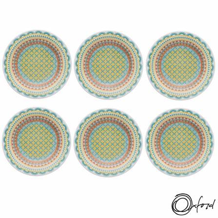 , Colorido, Estampado, Cerâmica, Redondo, 12 meses