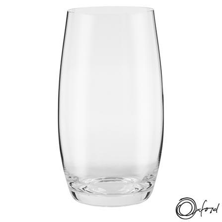 Conjunto de Copos em Cristal de 500 ml - Oxford, Não se aplica, Cristal, 06 Peças, 500 ml, 03 meses